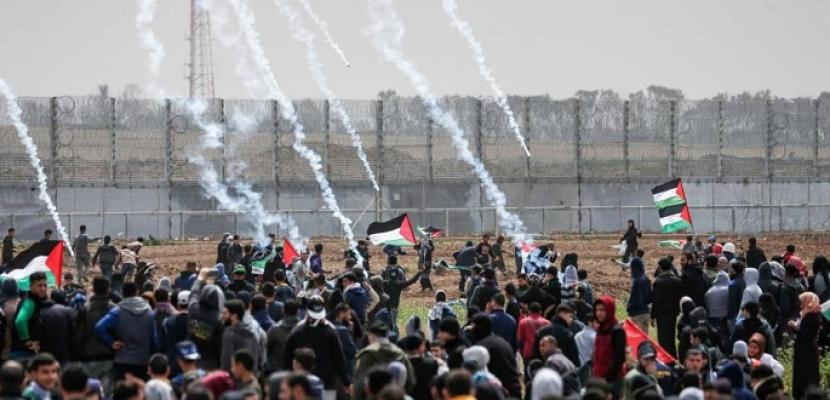 إصابة 32 فلسطينيا بالرصاص الحي في اعتداء الاحتلال الإسرائيلي على المسيرات الأسبوعية شرق غزة