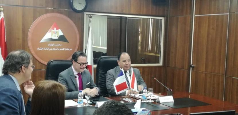 بالصور..وزير المالية : حريصون علي إزالة جميع المعوقات التي تواجه الاستثمارات الفرنسية في مصر
