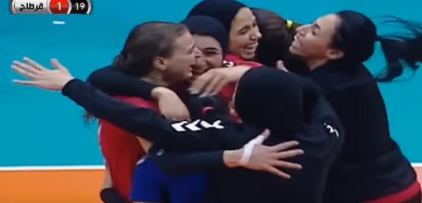 سيدات الأهلي يتوجن ببطولة أفريقيا للكرة الطائرة على حساب قرطاج التونسي