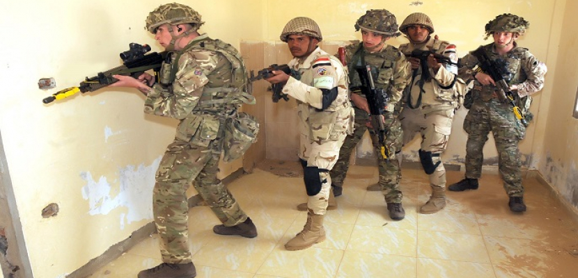 """بالفيديو والصور.. استمرار فعاليات التدريب المشترك المصري البريطاني """"أحمس -1"""""""