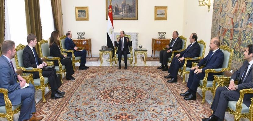 بالصور.. الرئيس السيسي يؤكد حرص مصر على تعزيز العلاقات الاستراتيجية مع الولايات المتحدة
