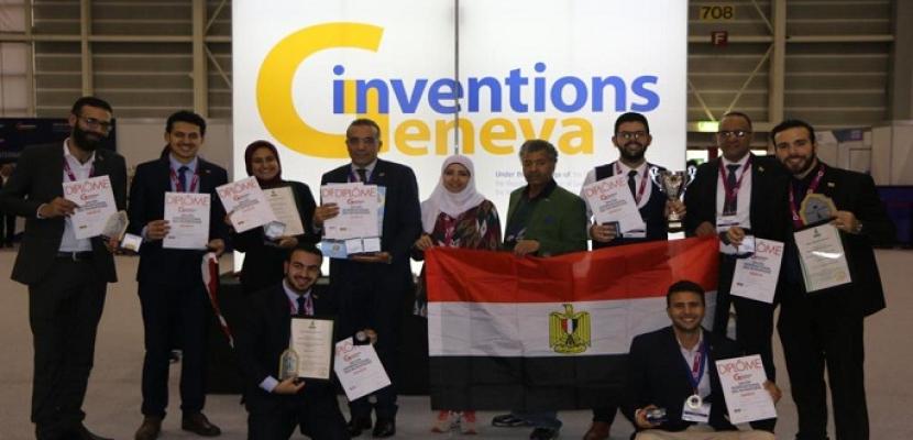 الفريق المصري يحصد الذهب والفضة والبرونز في معرض جنيف الدولي للاختراعات