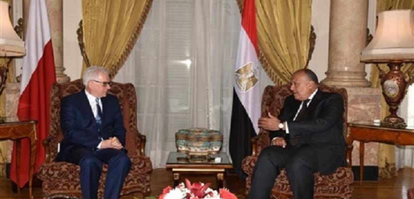 وزير الخارجية يؤكد أهمية التعاون الوثيق بين مصر وبولندا