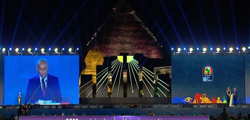 """""""كأس الأمم"""" تصل مقر حفل سحب قرعة البطولة"""