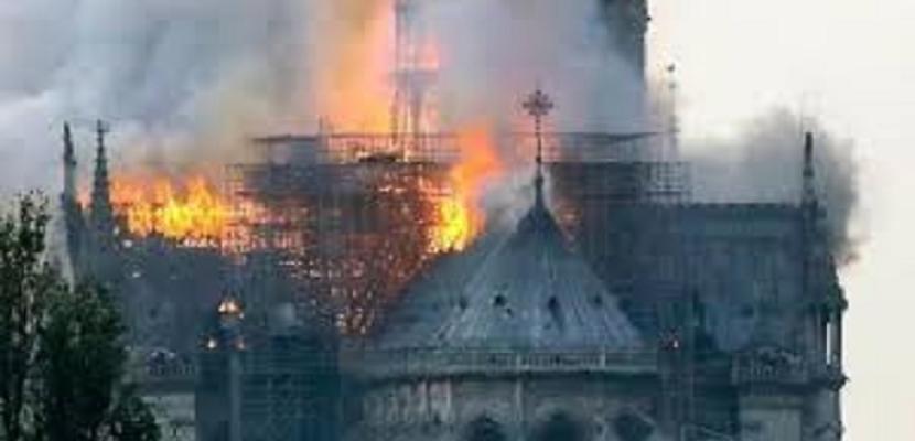 """وزارة الثقافة تعلن تضامنها مع الشعب الفرنسي في حريق البرج التاريخى بكاتدرائية """"نوتردام"""""""