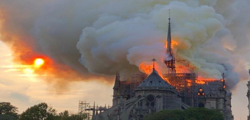 """قادة دوليون يدعون للمساعدة في ترميم كاتدرائية """"نوتردام"""" الفرنسية"""