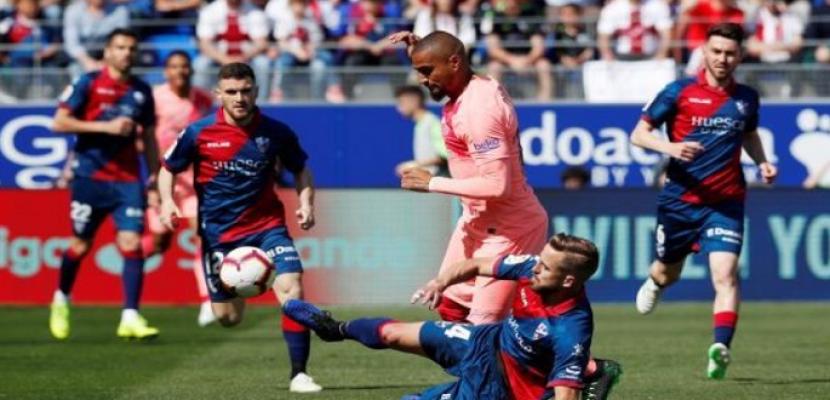 برشلونة يتعادل سلبيا مع هويسكا بالليجا