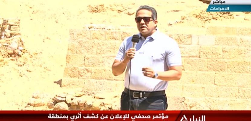 وزير الآثار يعلن الكشف عن مقبرة مزدوجة بالهرم يرجع تاريخها لعصر الأسرة الخامسة