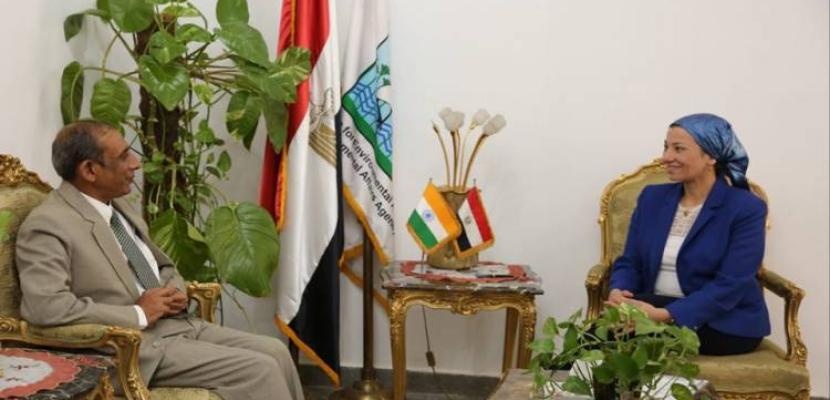 وزيرة البيئة تناقش مع السفير الهندي استعدادات المشاركة في قمة المناخ