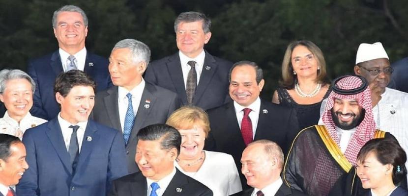 جلسات عمل وقمم جماعية وثنائية للرئيس السيسي خلال مشاركته في قمة العشرين