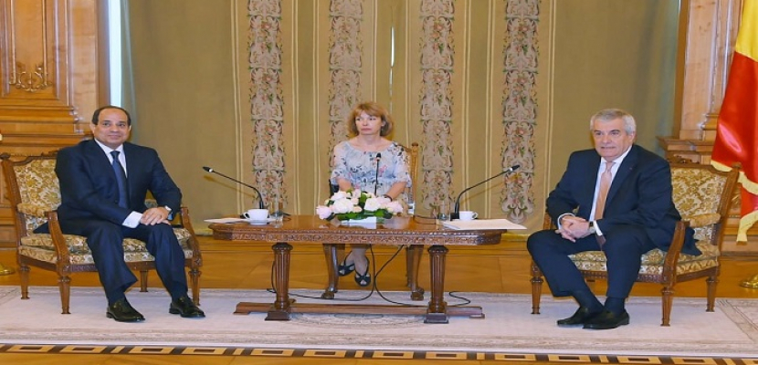 بالصور.. الرئيس السيسي يلتقي رئيس مجلس الشيوخ الروماني.. ويؤكد الاهتمام الذي توليه مصر بتعزيز التعاون البرلماني  بين البلدين