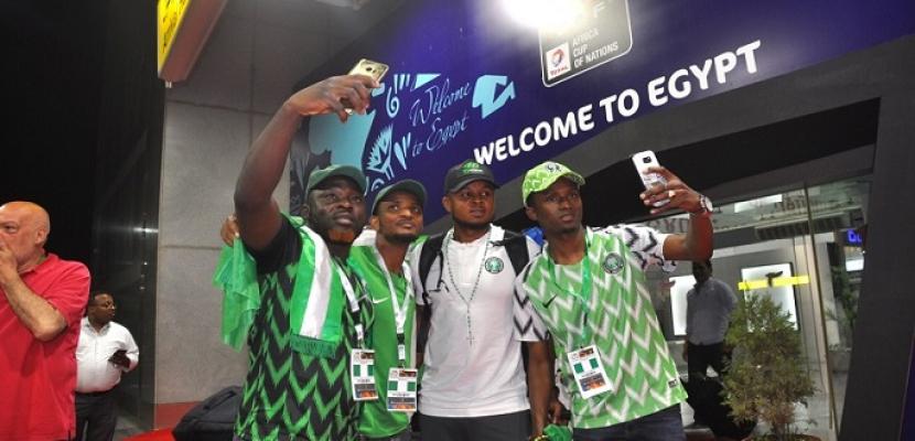 بالصور .. وصول منتخبى نيجيريا وزيمبابوي للقاهرة للمشاركة فى كأس الأمم
