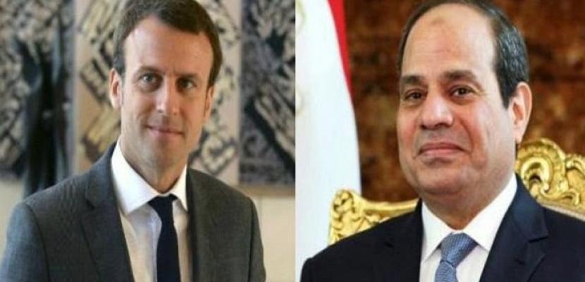 الرئيس السيسىي يبحث هاتفيا مع نظيره الفرنسي الأوضاع فى ليبيا والسودان