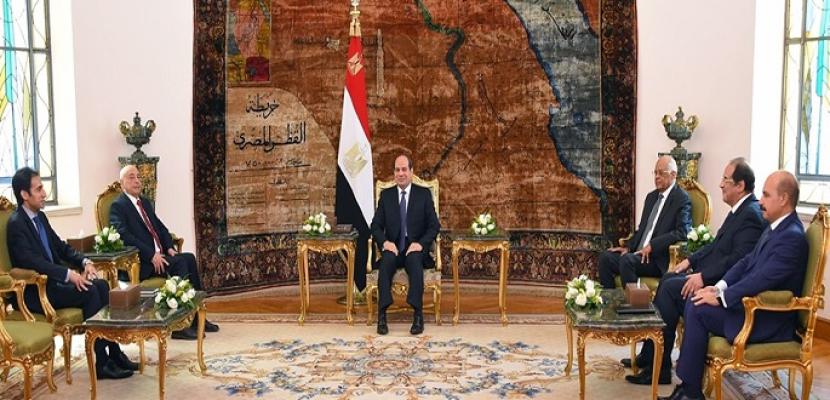 خلال لقائه عقيلة صالح.. الرئيس السيسي يؤكد موقف مصر الثابت بدعم الجيش الوطني الليبي
