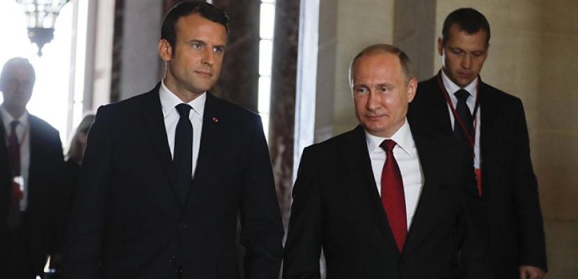 ملفات سوريا وإيران وأوكرانيا تتصدر مباحثات بوتين وماكرون فى باريس اليوم