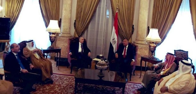لقاء تشاورى يجمع شكرى ووزراء خارجية السعودية والإمارات والبحرين والأردن والعراق