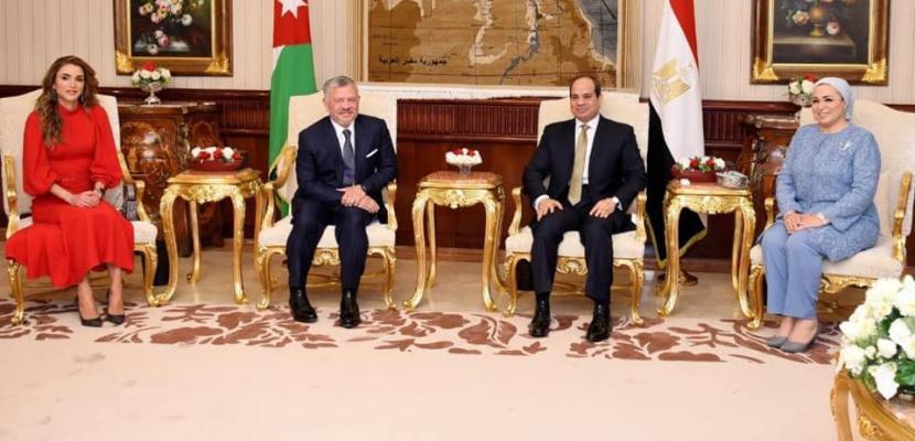 قرينة الرئيس السيسي: سعدت اليوم باستقبال الملكة رانيا في بلدها الثانى مصر