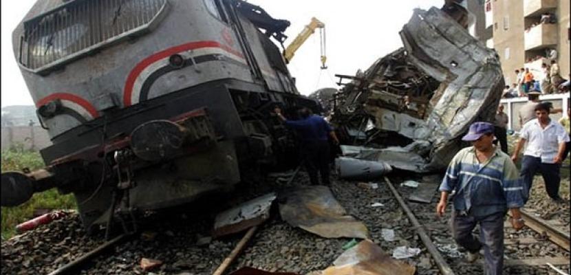 تأجيل العزاء الجماعي في ضحايا قطار دهشور إلى الغد
