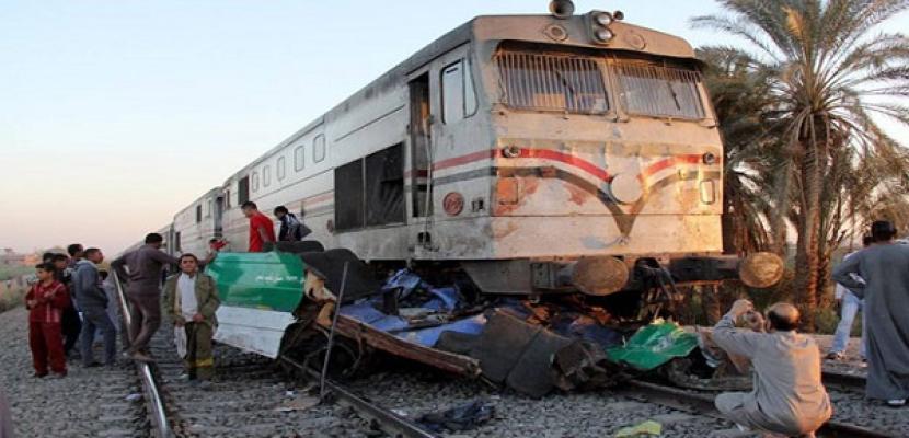 تعويض ضحايا قطار دهشور بـ15 ألف جنيه لأسرة المتوفى و5 الاف للمصاب