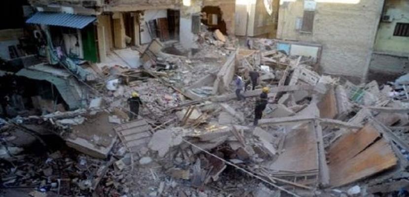 وفاة شخصين إثر انهيار منزل بحي الساحل بالقاهرة