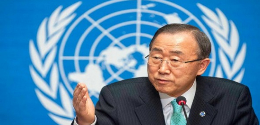 بان جي مون يدعو إسرائيل لاتخاذ خطوات لتهدئة غزة