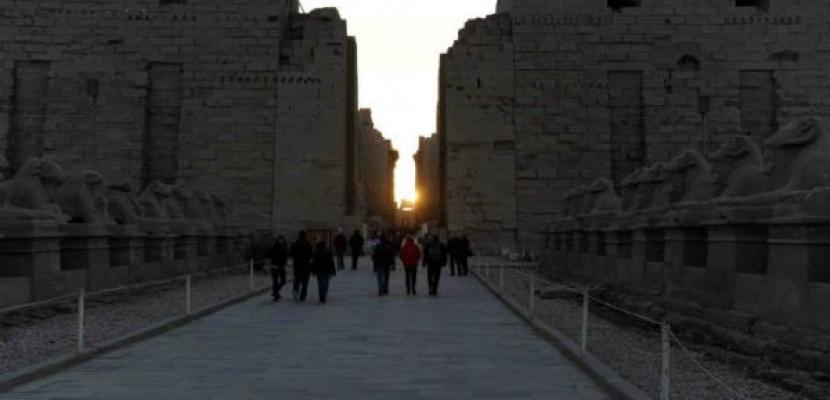 احتفالات بتعامد الشمس على معبد الكرنك و قصر قارون بالأقصر و الفيوم