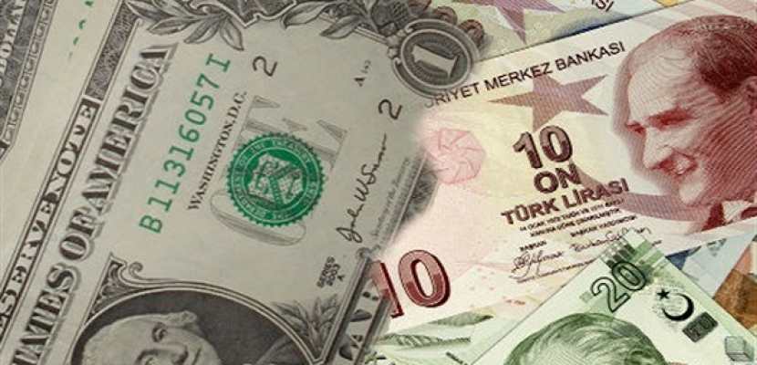 الليرة التركية تسجل مستوى منخفضا جديدا مقابل الدولار