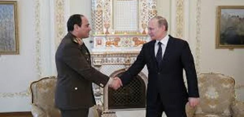 بوتين يأمل في رفع التبادل التجاري مع مصر إلى 5 مليارات دولار
