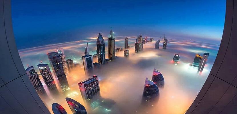 لقطات جميلة لناطحات السحاب في دبي
