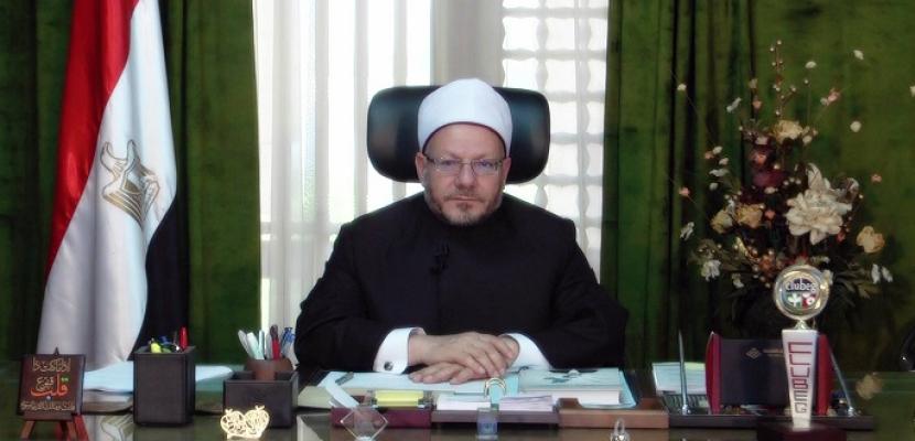 مفتي الجمهورية : الإسلام دعا لغرس ثقافة الفسيلة كرمز لفعل الخير