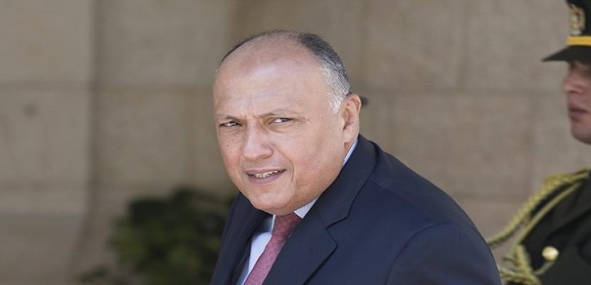 شكرى يتوجه اليوم إلى العاصمة التونسية للمشاركة فى الاجتماع الوزارى الثلاثى حول ليبيا