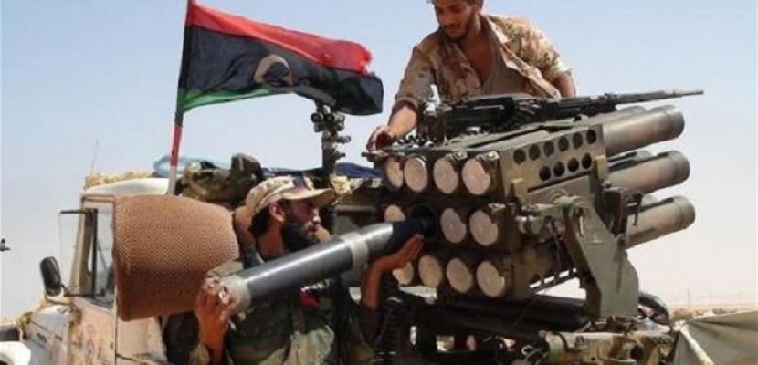 الجيش الليبي يقصف آليات تابعة للميليشيات في مدينة براك الشاطئ جنوبي ليبيا