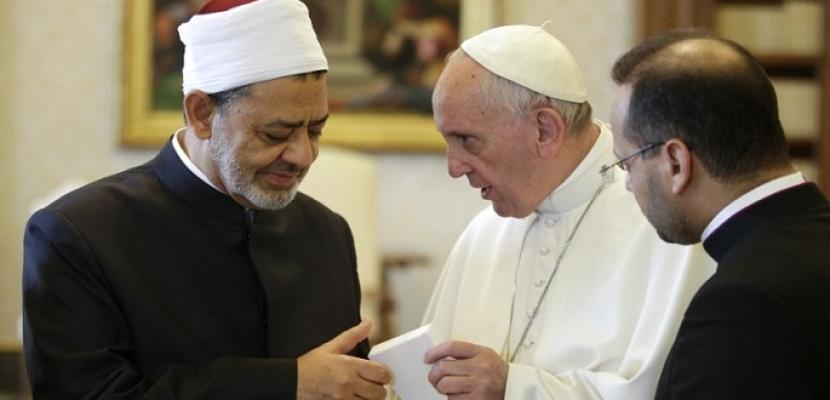 شيخ الأزهر وبابا الفاتيكان يواصلان نداءات التضامن العالمي لتخفيف معاناة المتضررين من كورونا