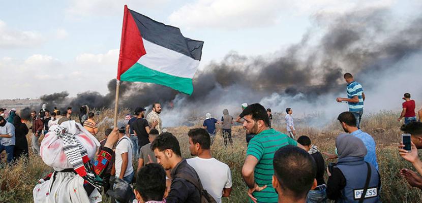 ارتفاع أعداد المصابين بنيران الاحتلال الإسرائيلي بمسيرات العودة بغزة إلى 38 فلسطينيا