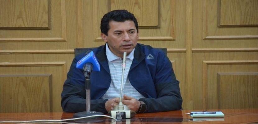 وزير الرياضة : مصر أصبحت ذات سمعة عالمية فى استضافة البطولات الكبرى