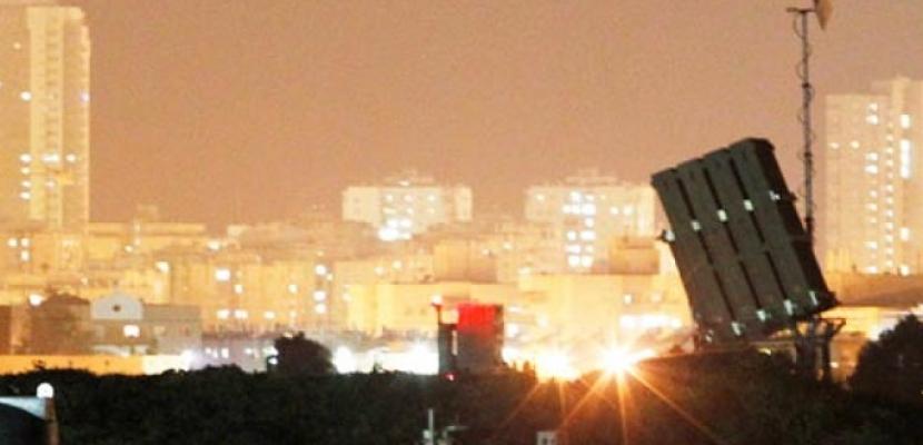 الجيش الإسرائيلي: صاروخ أطلق من غزة وتصدت له القبة الحديدية
