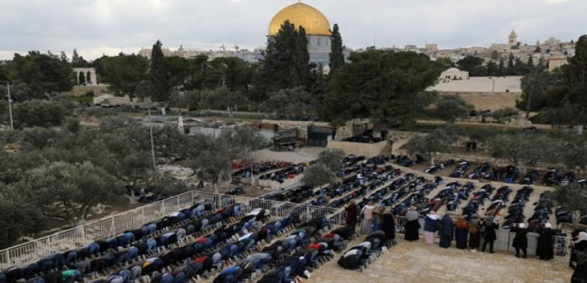50 ألف فلسطيني يؤدون صلاة الجمعة في الأقصى رغم إجراءات الاحتلال المشددة