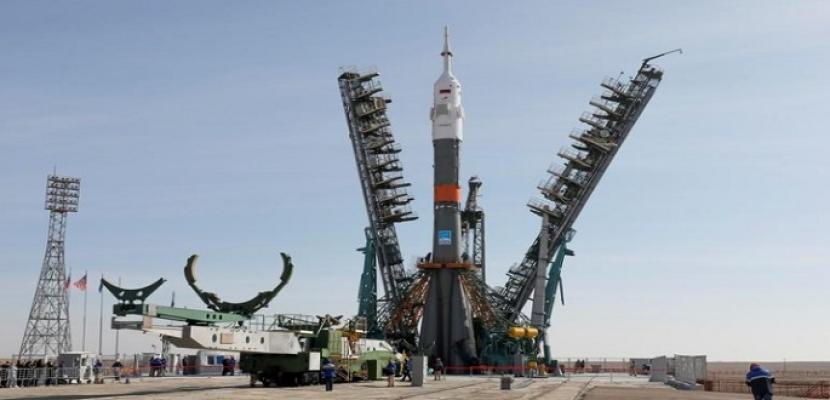 انطلاق المركبة الروسية سويوز إلى الفضاء وعلى متنها ثلاثة رواد