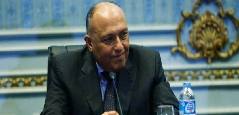 وزير الخارجية يعود إلى القاهرة قادماً من واشنطن