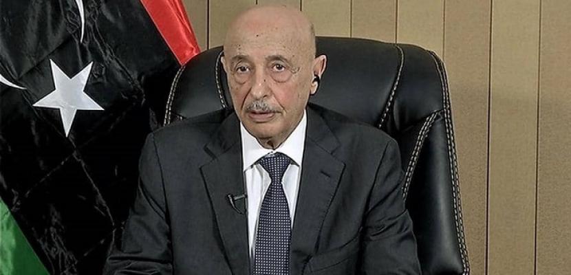 رئيس البرلمان الليبي يحذر من مخاطر اتفاق السراج واردوغان ويطالب بسحب الاعتماد العربي والدولي لحكومة الوفاق