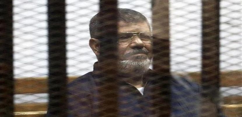 وفاة محمد مرسى أثناء حضوره لجلسة محاكمته في قضية التخابر اليوم