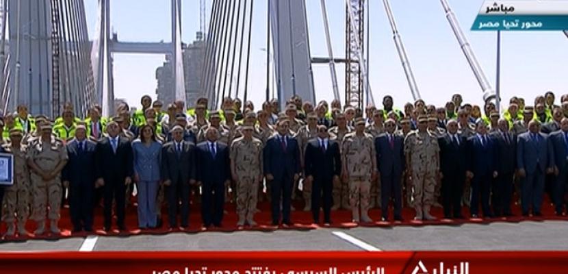 الرئيس السيسي يفتتح كوبري تحيا مصر