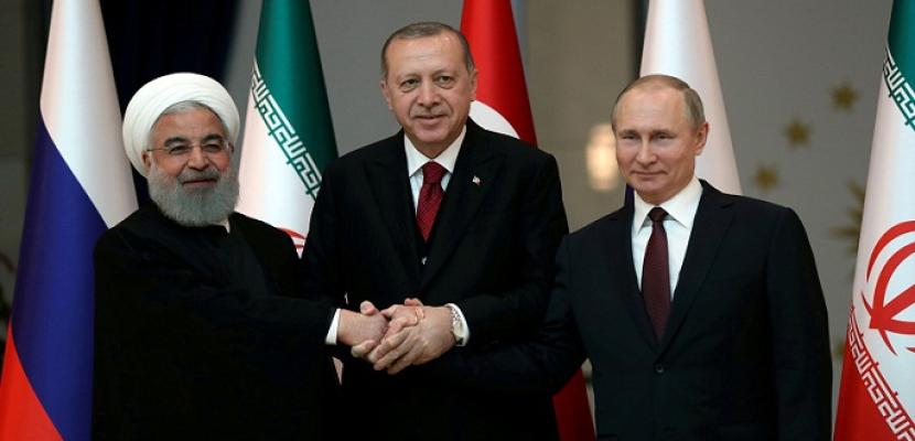 اجتماع ثلاثى اليوم عبر الفيديو كونفرنس بين بوتين وأردوغان وروحانى بشأن سوريا