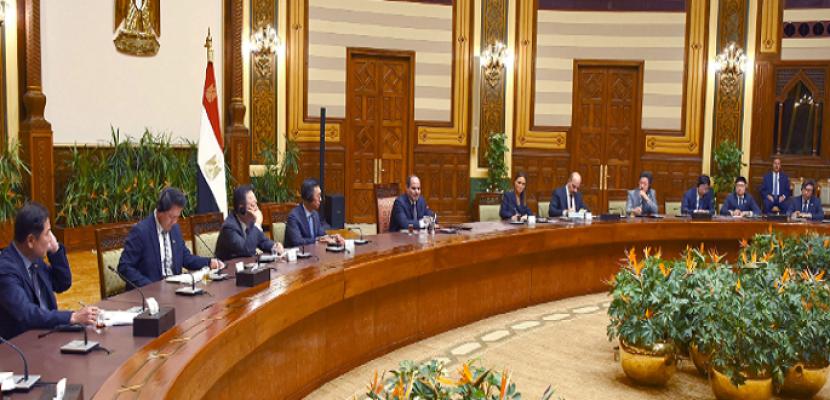 السيسي لوفد كوري: عازمون على تحقيق مستهدفات الإصلاح الاقتصادى الشامل