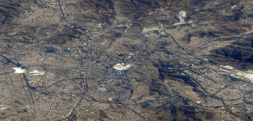 صورة لمكة من الفضاء بعدسة الرائد الإماراتي هزاع المنصوري