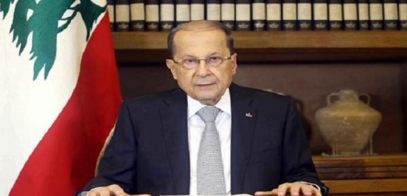 الرئيس اللبنانى : نجتاز مرحلة صعبة اشتدت وطأتها بسبب وباء كورونا