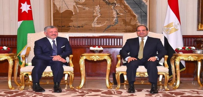 مصر والأردن .. قمم ثنائية وتنسيق مستمر وقواسم مشتركة