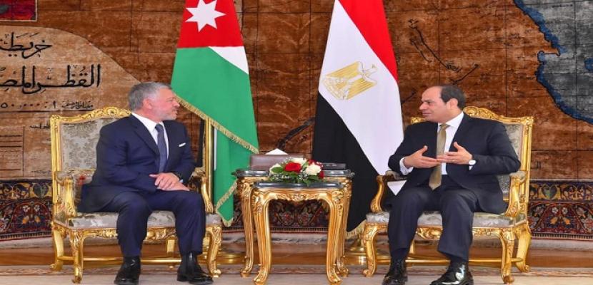 بالصور- قمة مصرية أردنية بالاتحادية.. والرئيس السيسي يؤكد رفض مصر للعدوان التركي على سيادة وأراضي سوريا