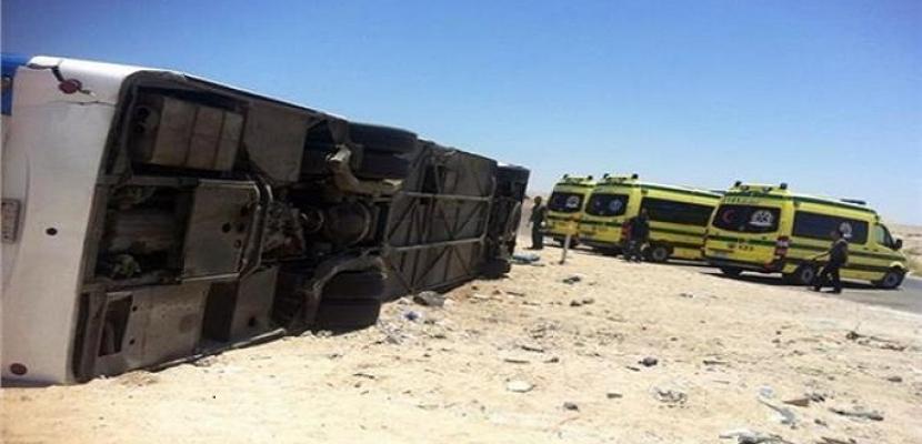 الصحة: 37 مصاباً في حادث اصطدام أتوبيس بطريق سفاجا- قنا ولا وفيات