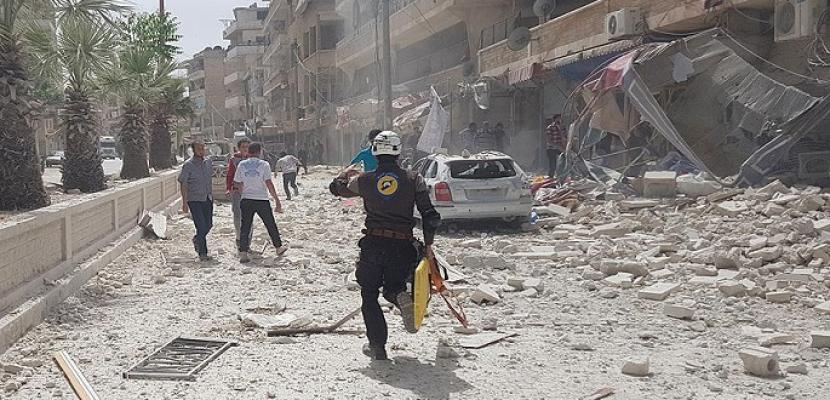 نحو 20 قتيلا في غارات على محافظة إدلب شمال غربي سوريا